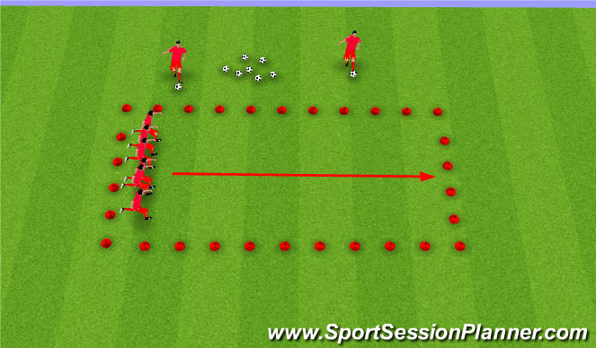 Football/Soccer Session Plan Drill (Colour): Passing Lane
