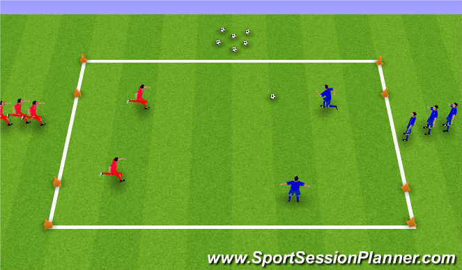 Football/Soccer Session Plan Drill (Colour): Passing Numbers Game