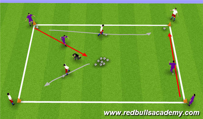 Football/Soccer Session Plan Drill (Colour): Bank Robbery - warm up