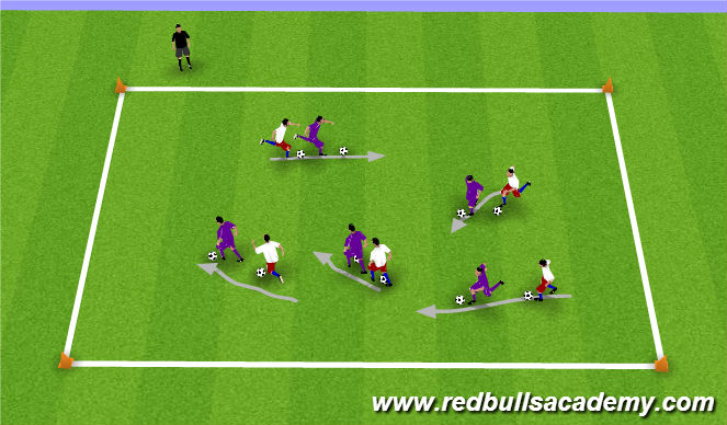 Football/Soccer Session Plan Drill (Colour): The Shadow!