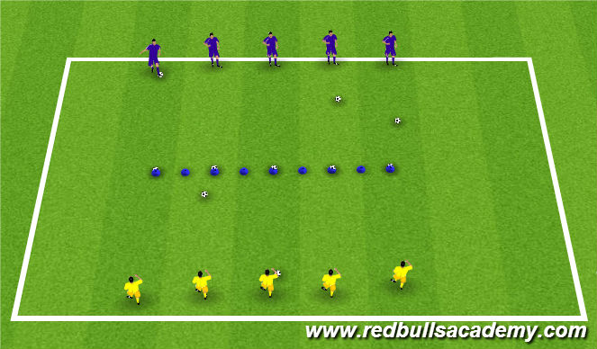 Football/Soccer Session Plan Drill (Colour): Knock-Off