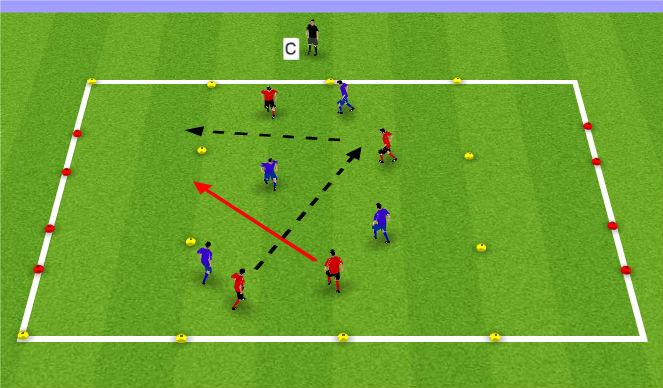 Football/Soccer Session Plan Drill (Colour): Small Sided 4 v 4 or 5 v 5