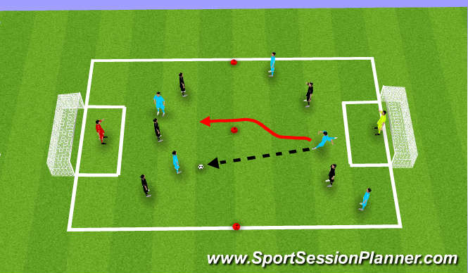 Football/Soccer Session Plan Drill (Colour): Expanded Small-Sided Activity