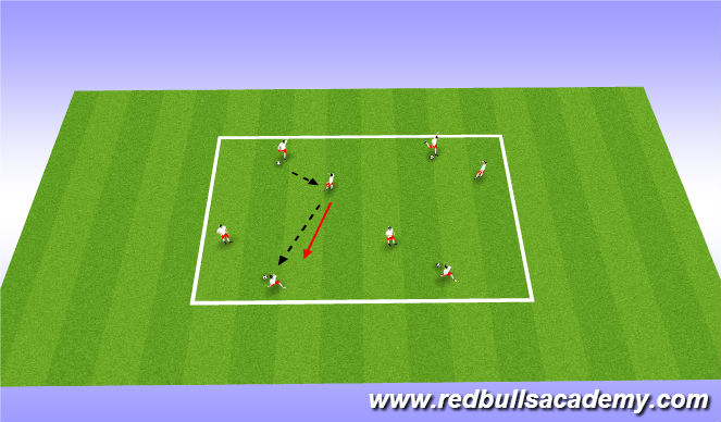 Football/Soccer Session Plan Drill (Colour): Warm Up: Technique