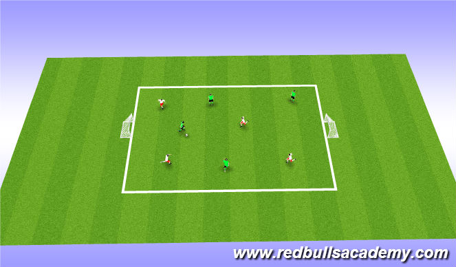 Football/Soccer Session Plan Drill (Colour): Free Play: 4v4