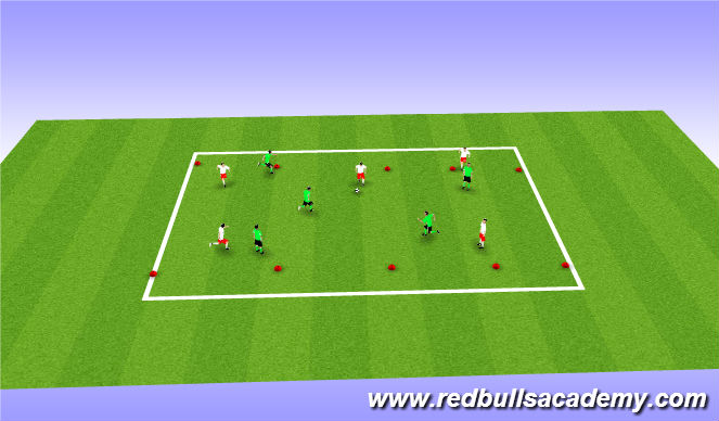 Football/Soccer Session Plan Drill (Colour): Conditioned Game (Fully opposed)