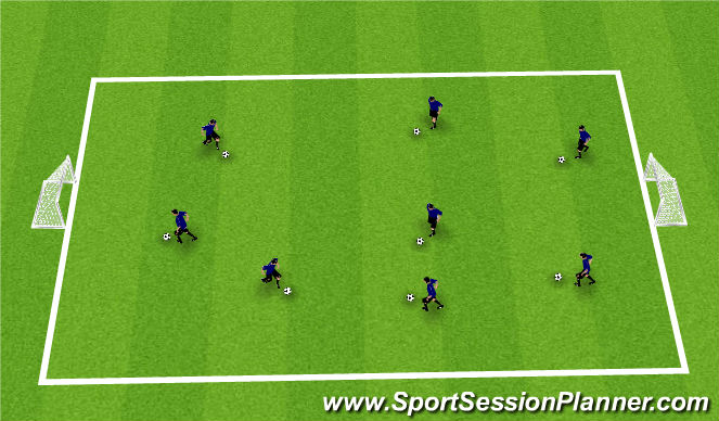 Football/Soccer Session Plan Drill (Colour): Warm - Up:  Can you do this?