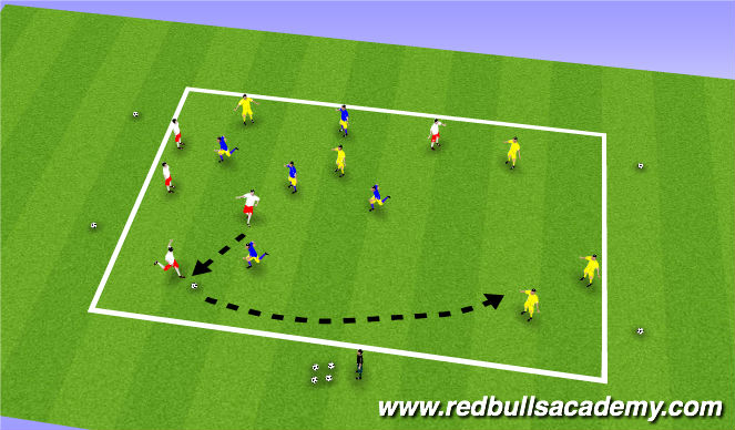Football/Soccer Session Plan Drill (Colour): Possession game warm up