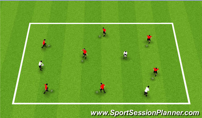 Football/Soccer Session Plan Drill (Colour): Marbles