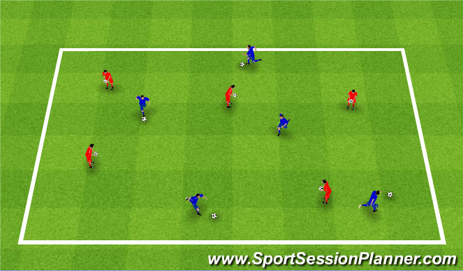 Football/Soccer Session Plan Drill (Colour): Bashers and Dodgers