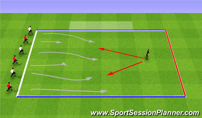 Football/Soccer Session Plan Drill (Colour): Sponge Bob Square Pants