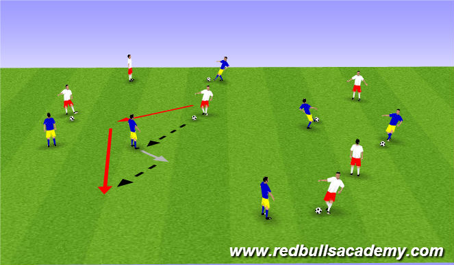 Football/Soccer Session Plan Drill (Colour): Warm up (1600)
