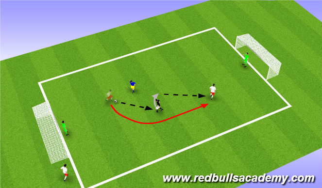 Football/Soccer Session Plan Drill (Colour): Conditioned Game (1607)