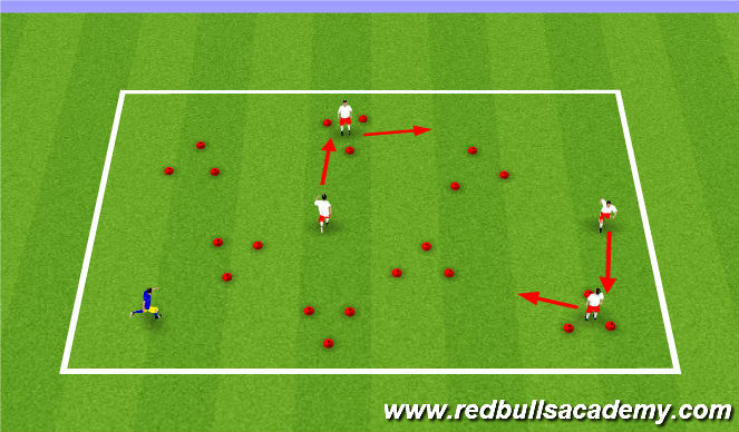 Football/Soccer Session Plan Drill (Colour): Triangles Tag