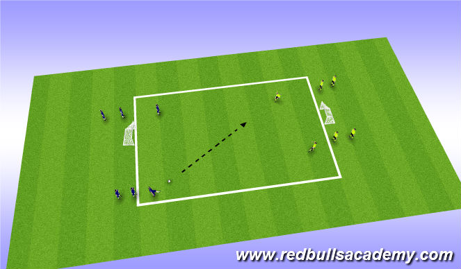 Football/Soccer Session Plan Drill (Colour): Main Theme: 2v2