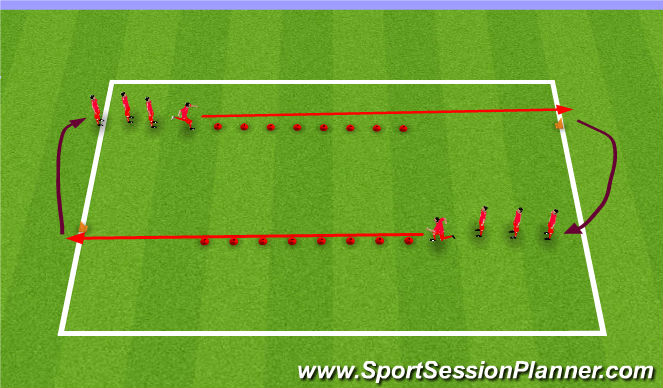 Football/Soccer Session Plan Drill (Colour): SAQ Warm Up
