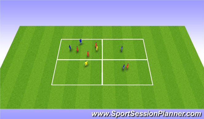 Football/Soccer Session Plan Drill (Colour): Extended small sided