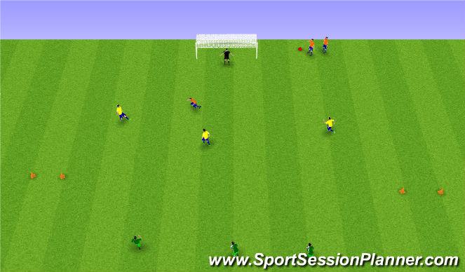 Football/Soccer Session Plan Drill (Colour): Stöð 2.
