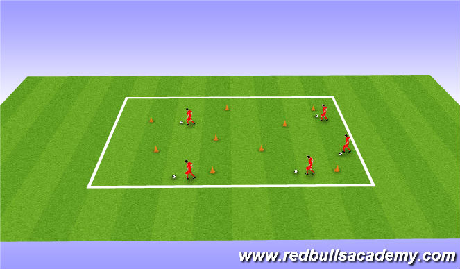 Football/Soccer Session Plan Drill (Colour): Tumble Weed Hop