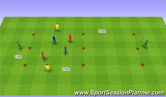 Football/Soccer Session Plan Drill (Colour): Interval game. Gra interwałowa.