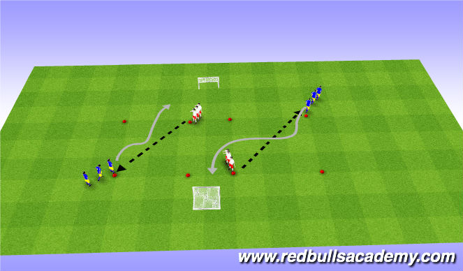 Football/Soccer Session Plan Drill (Colour): Conditioned-Game