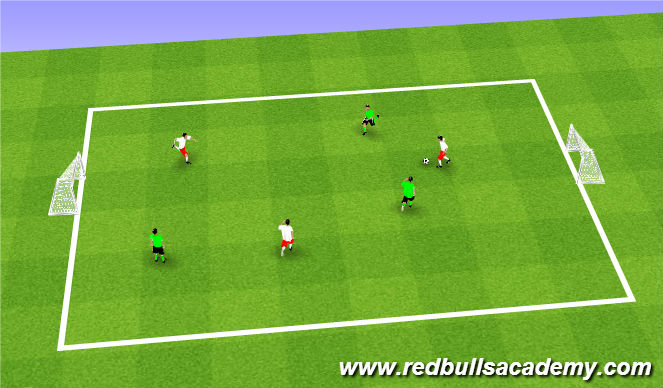 Football/Soccer Session Plan Drill (Colour): 3v3 Match Play