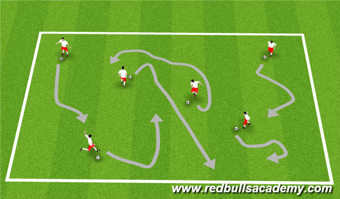 Football/Soccer Session Plan Drill (Colour): Warm Up games