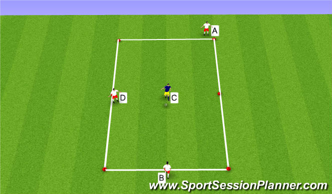 Football/Soccer Session Plan Drill (Colour): Player Rotation