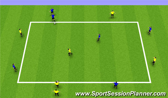 Football/Soccer Session Plan Drill (Colour): Combination practice