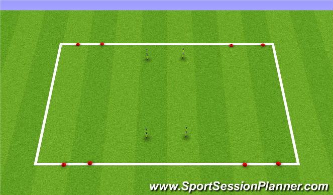 Football/Soccer Session Plan Drill (Colour): Combination