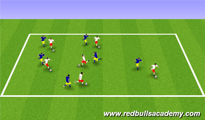 Football/Soccer Session Plan Drill (Colour): Marble King*
