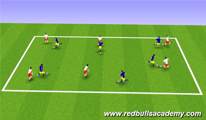 Football/Soccer Session Plan Drill (Colour): MK Variation