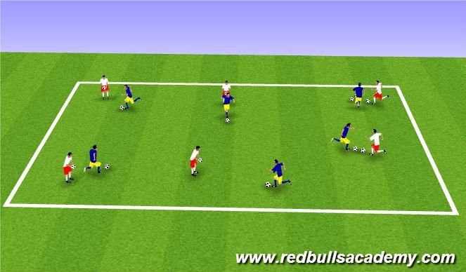 Football/Soccer Session Plan Drill (Colour): MK Variation