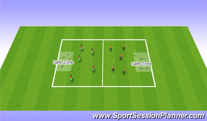 Football/Soccer Session Plan Drill (Colour): Capture the soccerball