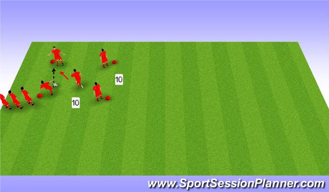 Football/Soccer Session Plan Drill (Colour): 4 v 1 passing