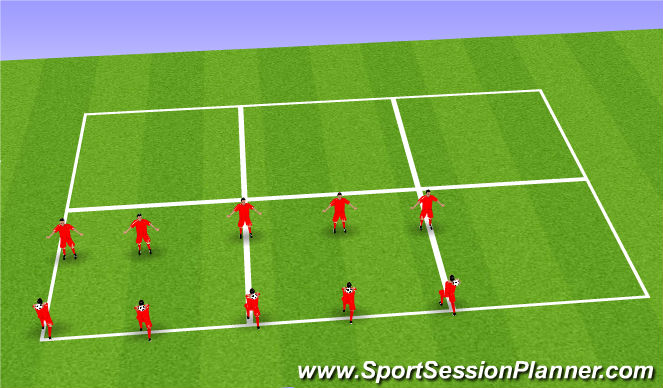 Football/Soccer Session Plan Drill (Colour): Block