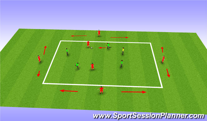 Football/Soccer Session Plan Drill (Colour): 6 v 4