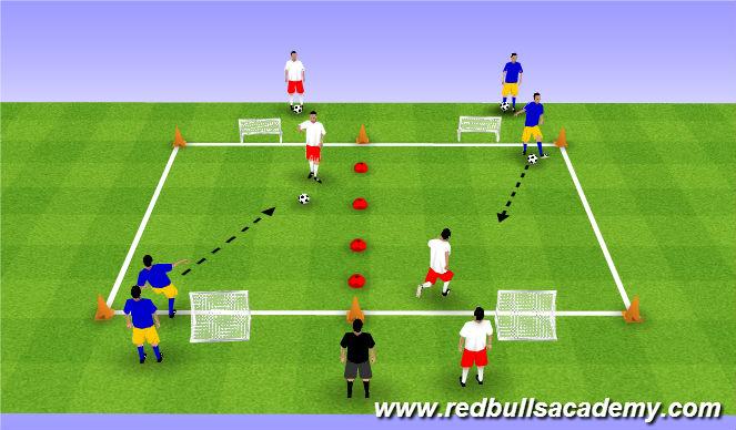 Football/Soccer Session Plan Drill (Colour): Main Theme 3