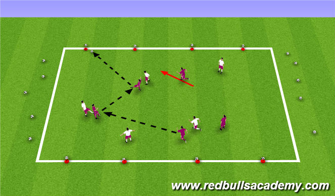Football/Soccer Session Plan Drill (Colour): Coconut Shy warm up