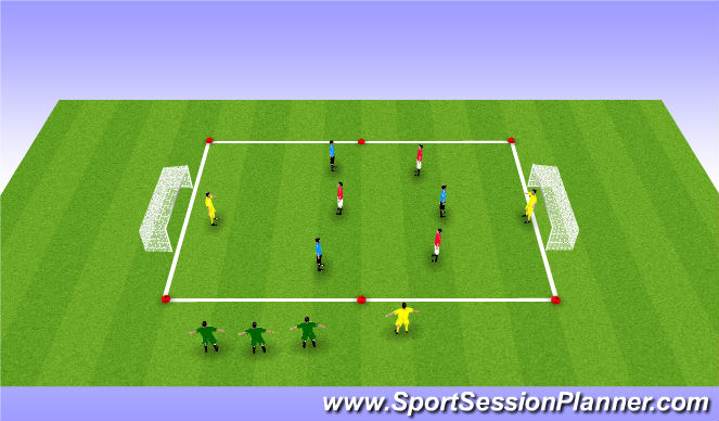 Football/Soccer Session Plan Drill (Colour): Exp. SSG