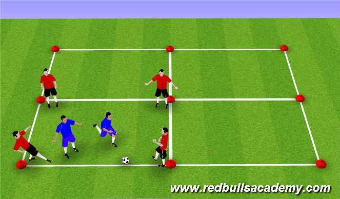 Football/Soccer Session Plan Drill (Colour): 4 v 2 Keep Away
