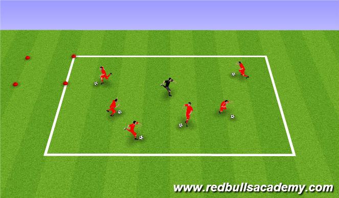 Football/Soccer Session Plan Drill (Colour): Bikini Bottom