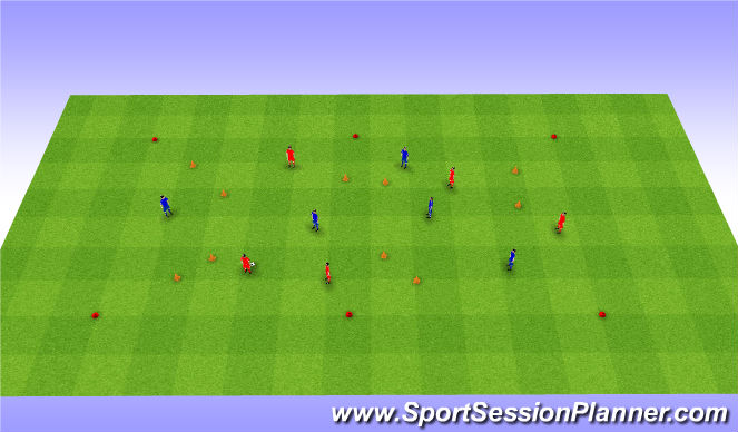Football/Soccer Session Plan Drill (Colour): 1 more goal game. Gra 1 więcej bramka.