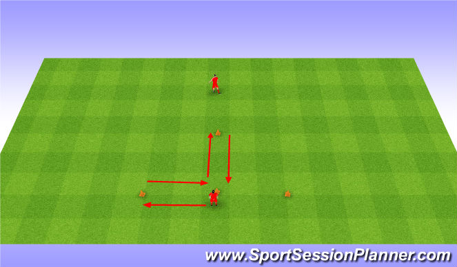 Football/Soccer Session Plan Drill (Colour): Warm up and agility. Rozgrzewka i zwinność.