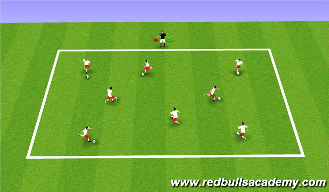 Football/Soccer Session Plan Drill (Colour): Red/Green Light I