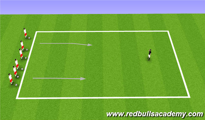 Football/Soccer Session Plan Drill (Colour): Red/Green Light II