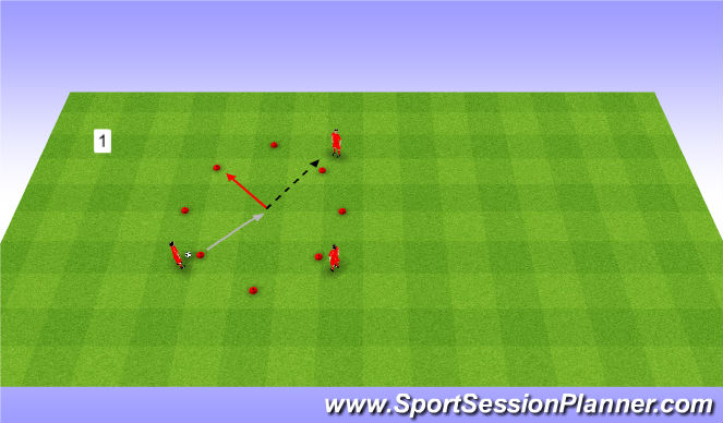 Football/Soccer Session Plan Drill (Colour): Warm up. Rozgrzewka