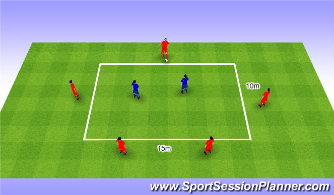 Football/Soccer Session Plan Drill (Colour): Rondo 5v2. Dziadek 5v2