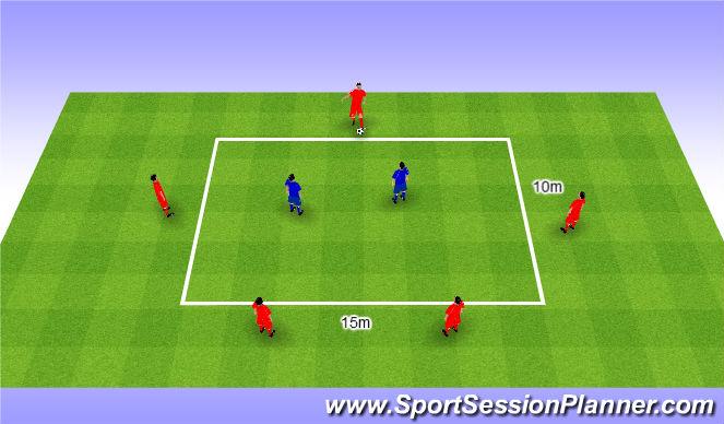 Football/Soccer Session Plan Drill (Colour): Rondo 5v2. Dziadek 5v2