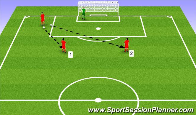 Football/Soccer Session Plan Drill (Colour): Strzały z pierwszej i po przyjęciu.
